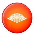 Opened oriental fan icon flat style vector image vector image