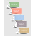 Origami paper numbered banners in pastel colors