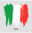 painted grunge italian flag brush strokes on vector image