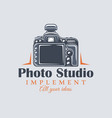 photo studio label concept vector image