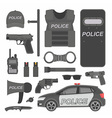 Police equipment vector image