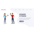 power fitness landing page vector image vector image
