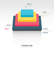 pyramid cube infographic top view vector image vector image