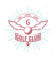 retro golf badge vector image vector image