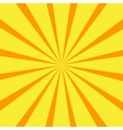 Retro orange background ray vector image vector image