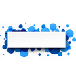 Round blue banner vector image