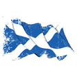 Scotland Flag Grunge vector image vector image