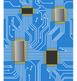Seamless computer chipset background vector image vector image