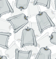 Seamless pattern of transparent grey sweatshirts vector image