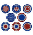 set american bunting decoration vector image vector image