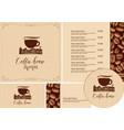 set design elements for coffee house with old vector image vector image