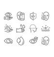 set medical icons such as health eye face vector image vector image