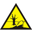 sign of poisonous in yellow triangle harmful vector image