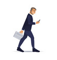 sketch happy business man in suit happy vector image