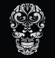 Skull Ornamental Indonesian Style vector image vector image