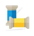 spool thread with needle vector image