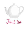 teapot on white background vector image vector image