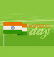 the flat design of the flag on the flagpole vector image