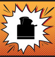 toaster simple sign comics style icon on vector image