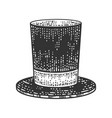 top hat cylinder sketch vector image