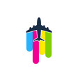 travel paint logo icon design vector image vector image