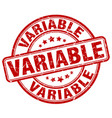 variable red grunge stamp vector image vector image