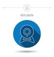 Web cam icon Video camera sign vector image