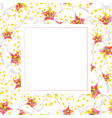 white plum blossom flower banner card vector image