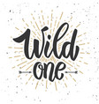 wild one design element for poster banner card vector image