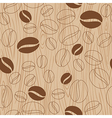 Wooden background with coffee pattern vector image