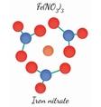 Iron nitrate FeN3O9 molecule vector image