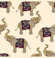 seamless pattern with hand-drawn tribal styled vector image