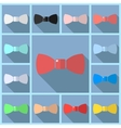 Set icons bow flat vector image