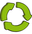sign recycle vector image