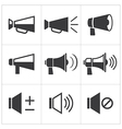 set of megaphone icon vector image