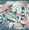 abstract floral seamless pattern silhouettes of vector image