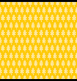 abstract leaf pattern in yellow background design vector image vector image