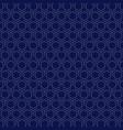 abstract retro white hexagon pattern design vector image vector image