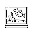aquarium line icon concept sign outline vector image