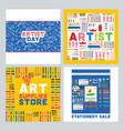 art supplies studying in art-school vector image vector image