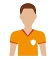 Avatar man soccer player graphic