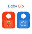 baby bib isolated vector image vector image