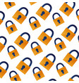 background security padlock protection pattern vector image
