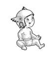 bain helmet sketch vector image