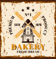 bakery colored with windmill vector image vector image