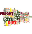 best way to lose weight keep it off text vector image vector image