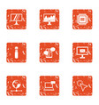 boost icons set grunge style vector image