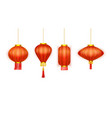 chinatown lanterns chinese new year paper light vector image