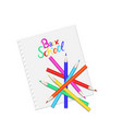 colored pencils on a white page back to school vector image vector image