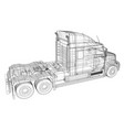 commercial delivery cargo truck for brand vector image vector image